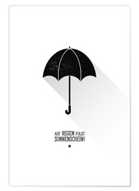 Premium poster Umbrella - The sun will always shine after the rain.