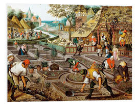 Foam board print  The four seasons, spring - Pieter Brueghel d.J.