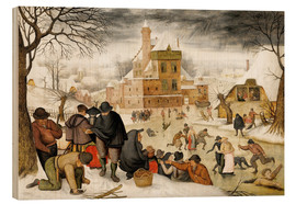 Wood  Winterlandscape with skaters  - Pieter Brueghel d.Ä.