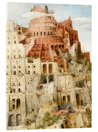 Acrylic glass  Tower of Babel (detail) - Pieter Brueghel d.Ä.