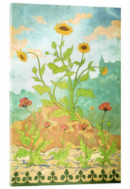 Acrylic print  Sunflowers and Poppies - Paul Ranson