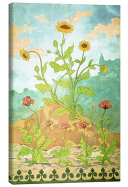 Canvas  Sunflowers and Poppies - Paul Ranson