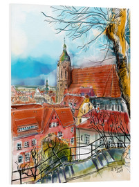 Foam board print  Pirna, View to the Church of St. Mary - Hartmut Buse