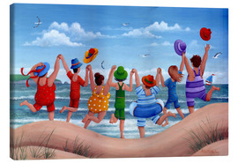 Canvas print  Beach party rainbow scene - Peter Adderley