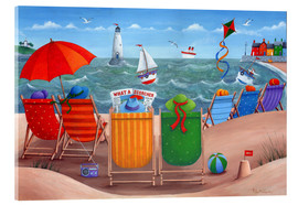 Acrylic glass  Beach scene - Peter Adderley