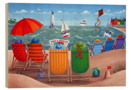 Wood print  Beach scene - Peter Adderley