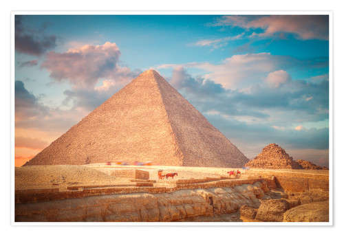 Premium poster great pyramid of Giza in Egypt