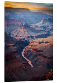 Acrylic glass  Amazing Sunrise of the Grand Canyon
