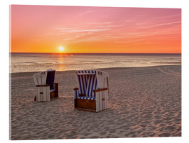 Acrylic print  Beautiful Baltic Sea beach