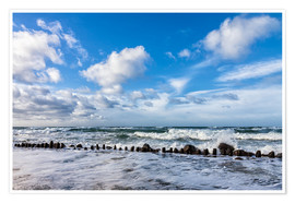 Premium poster  Swell of the Baltic Sea