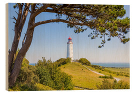 Wood print  lighthouse Dornbusch at Hiddensee