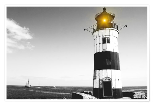Premium poster Lonely lighthouse