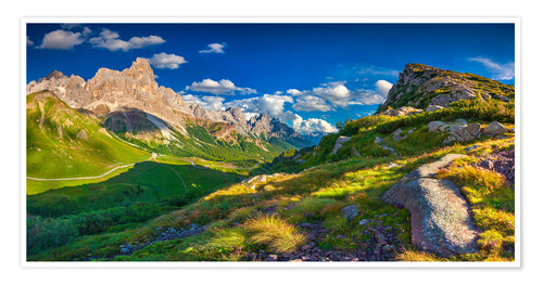 Premium poster Panoramic views of the Pale di San Martino