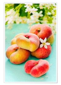 Poster  Summer peaches - K&L Food Style
