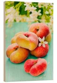 Wood print  Summer peaches - K&L Food Style