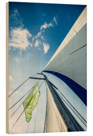 Wood print  Sails in the wind - Hannes Cmarits