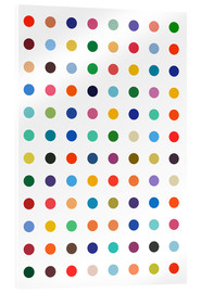 Acrylic print  Polkadots in colour - THE USUAL DESIGNERS