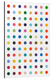 Aluminium print  Damien Tribute - Colourful polkadots - THE USUAL DESIGNERS