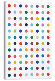 Canvas print  Polkadots in colour - THE USUAL DESIGNERS