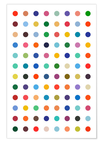 Premium poster Polkadots in colour