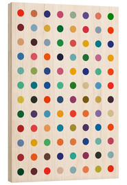 Wood print  Damien Tribute - Colourful polkadots - THE USUAL DESIGNERS