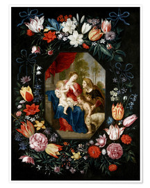 Premium poster The Virgin Mary and the Christ Child
