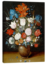 Canvas print  Bouquet of flowers in a vase - Jan Brueghel d.J.