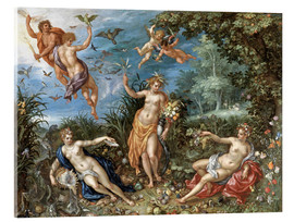 Acrylic print  The four elements - Jan Brueghel d.Ä.