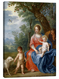 Canvas print  The Holy Family with John - Jan Brueghel d.J.