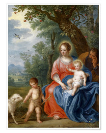 Premium poster  The Holy Family with John - Jan Brueghel d.J.