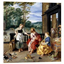 Acrylic glass  Christ in the House of Martha and Mary - Jan Brueghel d.J.