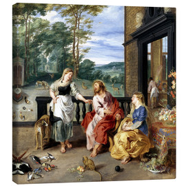 Canvas print  Christ in the House of Martha and Mary - Jan Brueghel d.J.