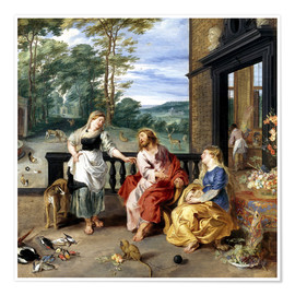 Premium poster  Christ in the House of Martha and Mary - Jan Brueghel d.J.