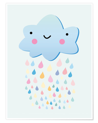Premium poster Happy little cloud