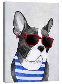 Canvas print  Frenchie summer style - Barruf