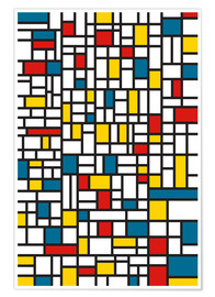 Premium poster  Mondrian extremes - THE USUAL DESIGNERS