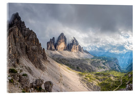 Acrylic print  Cloud sky at Tre Cime in Dolomite Alps - Dieter Meyrl