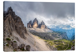 Canvas  Cloud sky at Tre Cime in Dolomite Alps - Dieter Meyrl