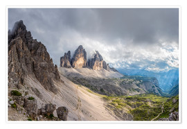 Premium poster Cloud sky at Tre Cime in Dolomite Alps
