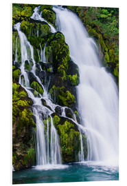 Foam board print  Detail of waterfall at Jaunpass - Peter Wey
