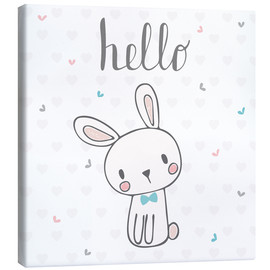 Canvas  Hello Bunny - Kidz Collection