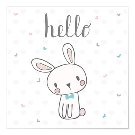 Poster  Hello Bunny - Kidz Collection