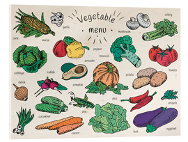 Acrylic print  Little vegetable menu