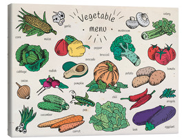 Canvas print  Little vegetable menu