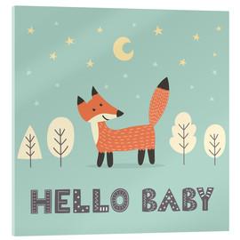 Acrylic print  A little fox standing in the forest - Kidz Collection