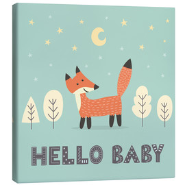 Canvas print  A little fox standing in the forest - Kidz Collection