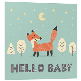 Foam board print  A little fox standing in the forest - Kidz Collection
