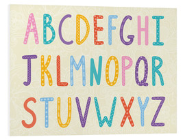 Foam board print  Colorful ABC letters - Typobox