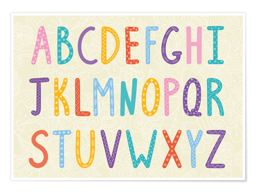 Premium poster Colorful ABC letters