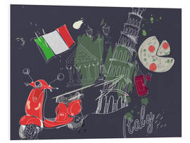 Foam board print  Let's go to Italy!